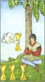 Four of Cups - Minor Arcana Tarot Card