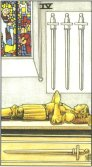 Four of Swords - Minor Arcana Tarot Card