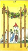 Four of Wands - Minor Arcana Tarot Card