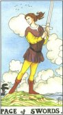 Page of Swords - Minor Arcana Tarot Card