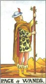 page of wands tarot card - free online reading