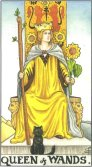 Queen of Wands - Minor Arcana Tarot Card