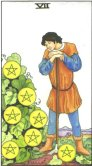 seven of pentacles tarot card - free online reading