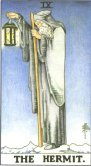 The Hermit - Major Arcana Tarot Card