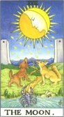 The Moon - Major Arcana Tarot Card