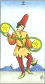 Two of Pentacles - Minor Arcana Tarot Card